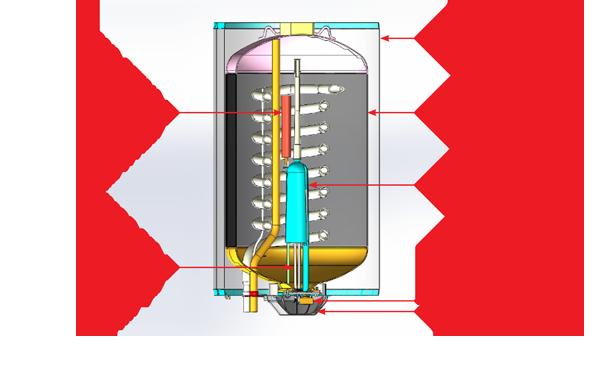 מבנה פנימי של דוד שמש| צילום: באדיבות חברת כרומגן