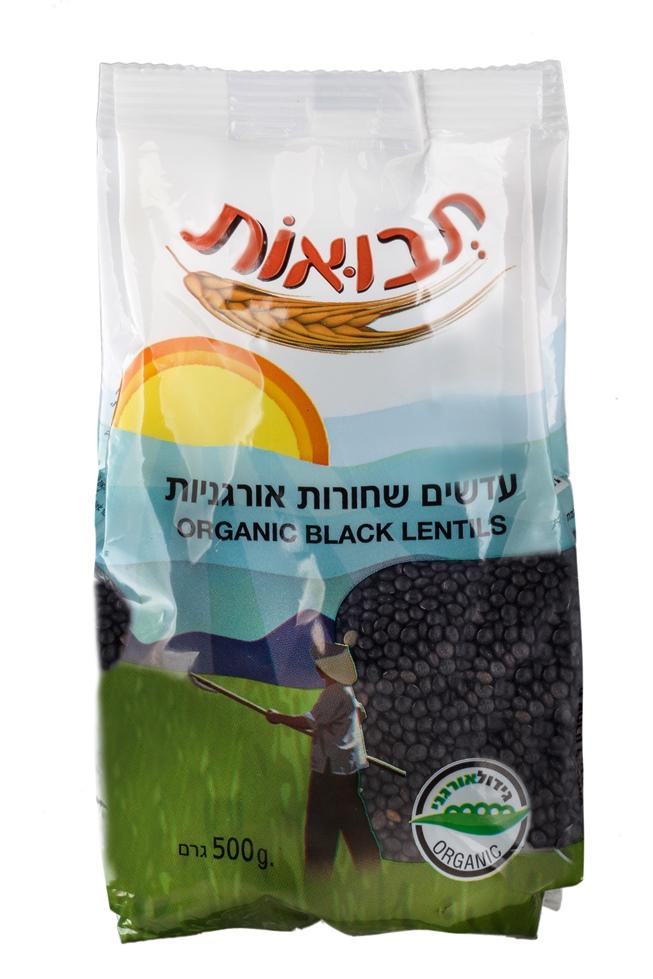 עדשים שחורות אורגניות של תבואות|צילום: אנטולי מיכאלו