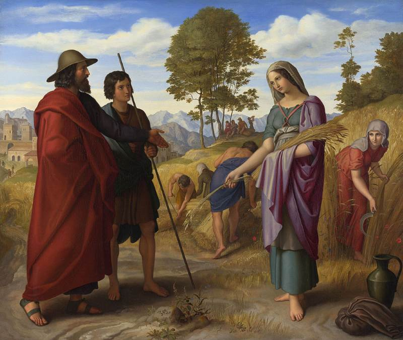 בועז ורות בשדה מתוך מגילת רות  צילום: וויקפדיה