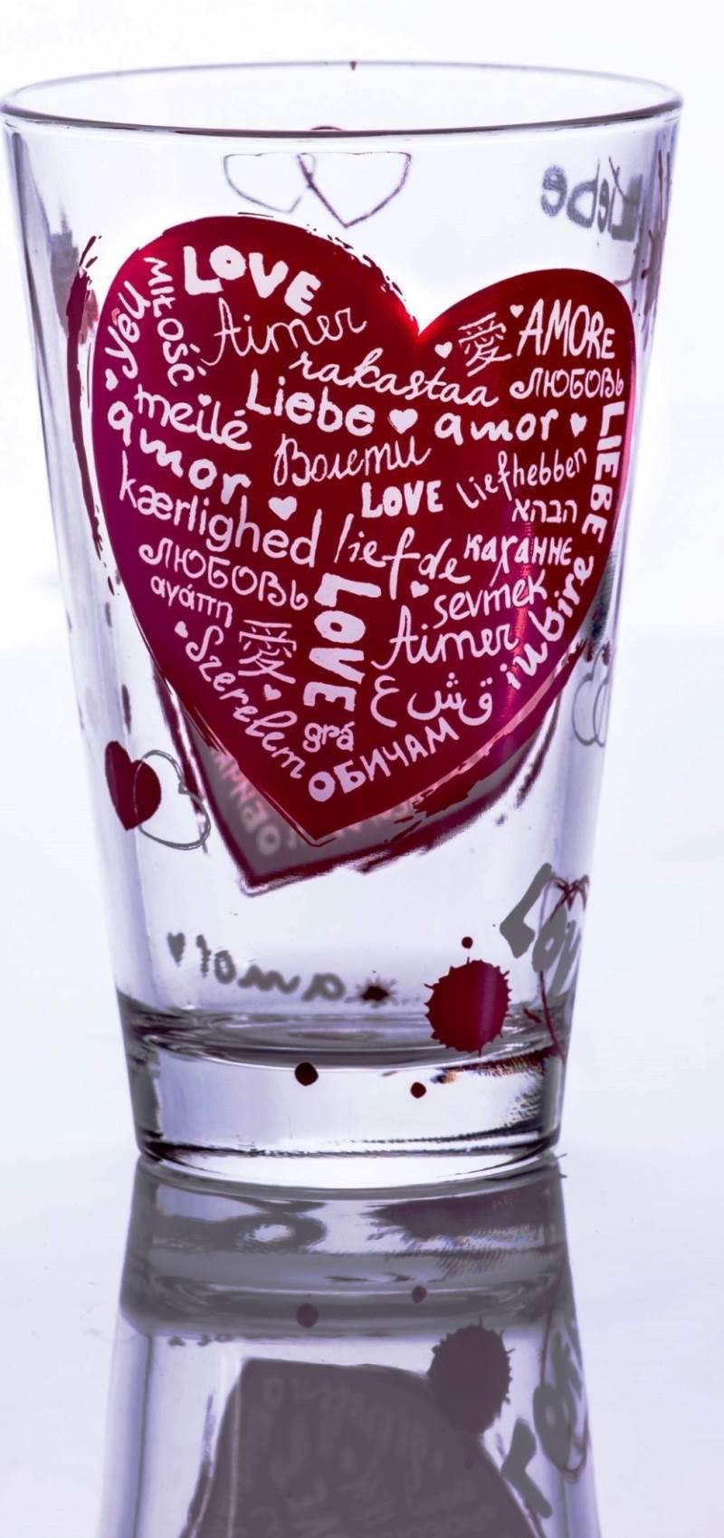 "כוס לב זכוכית | צילום: יח""צ"